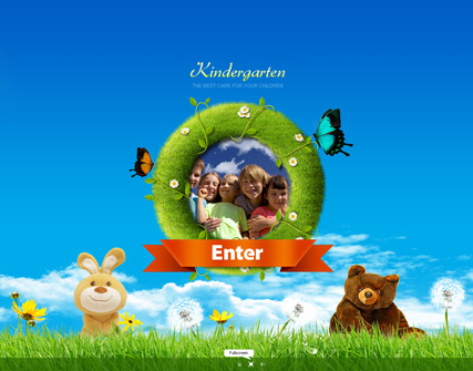 Kindergarten, Dynamic Photo Gallery Admin flash template
