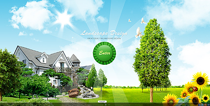 Landscape design, Dynamic Video Gallery Admin flash template