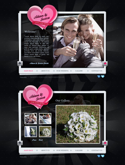 Our Wedding, HTML5 template