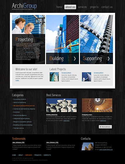 Architecture Design, HTML template