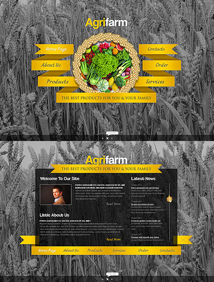 Agricultural Farm, Easy flash template
