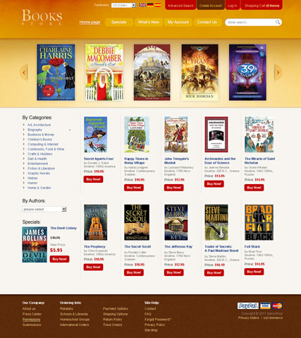 Book Store 2.3ver | osCommerce template | ID:300111165