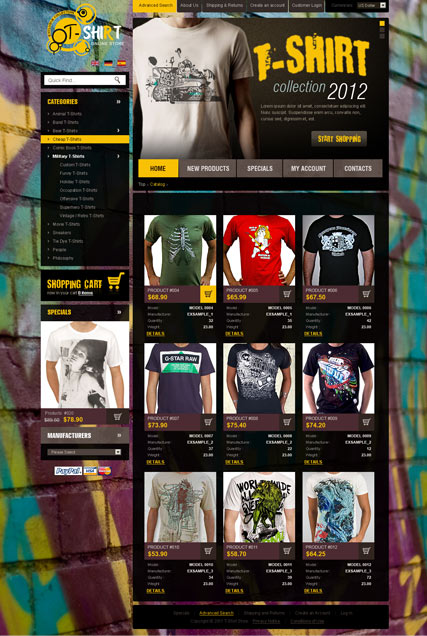 T-Shirts 2.3ver, osCommerce template