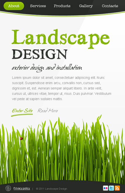 Landscape Design, Facebook template