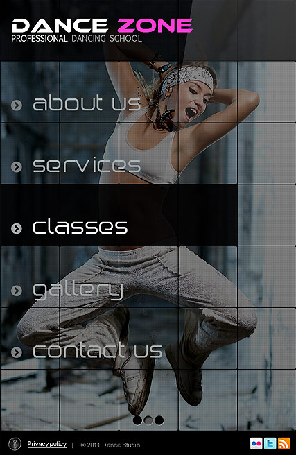 Dance Studio, Facebook template