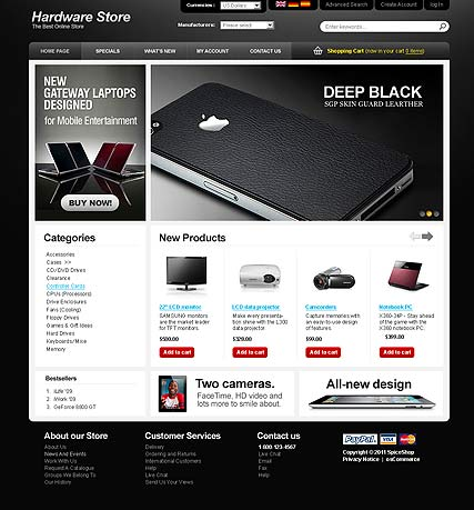 Hardware Store 2.3ver | osCommerce template | ID:300111174