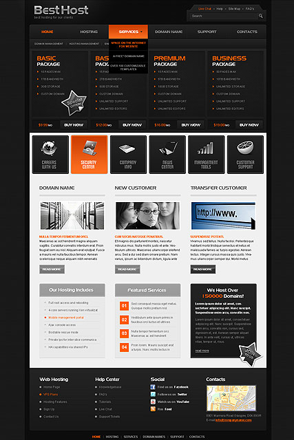 Best Hosting, HTML template