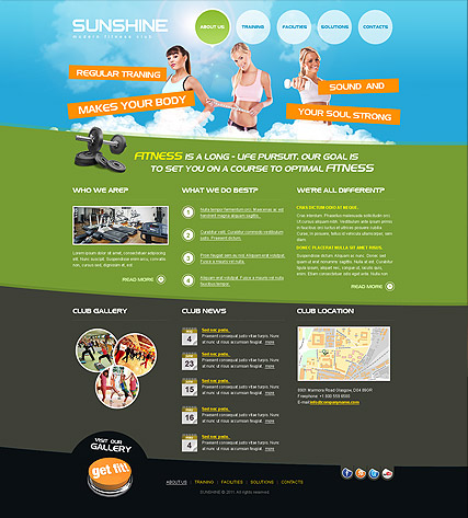 Name: Fitness Club - Type: HTML template - Item number:300111214