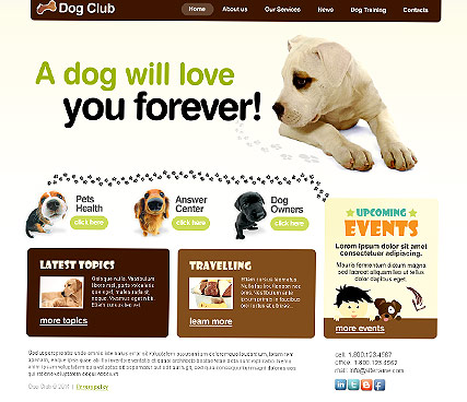 Dog Club, HTML template