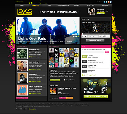 Music Station, HTML template