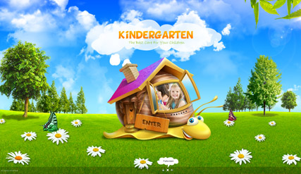 kindergarten, Dynamic Photo and Video Gallery Admin flash template