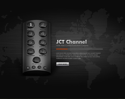 TV Channel, Dynamic Video Gallery Admin flash template