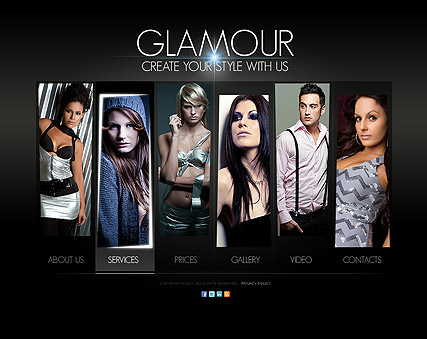 Glamour Fashion, HTML5 template