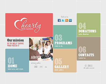Charity Organization, Easy flash template