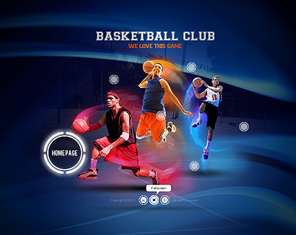 Name: Basketball club - Type: Easy flash templates - Item number:300111237