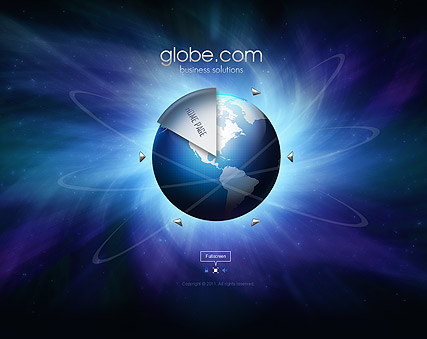 Business Globe, Easy flash template