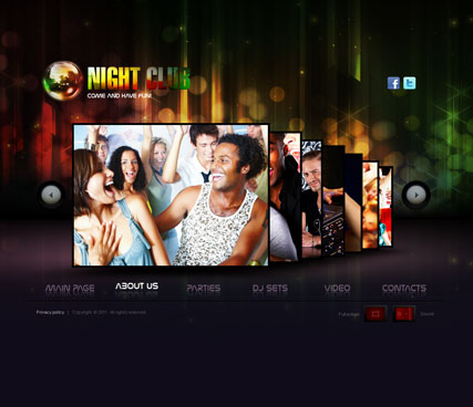 Night Club, Dynamic Video Gallery Admin flash template