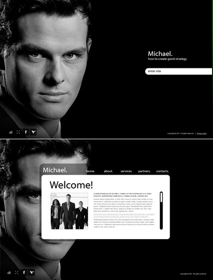 Personal Page, Easy flash template