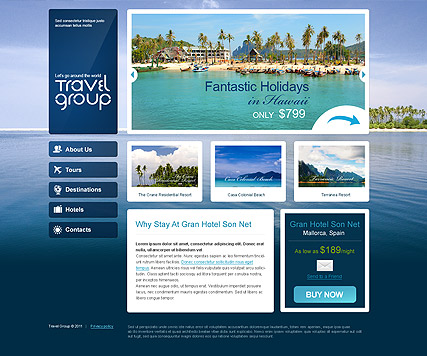 Travel, HTML template