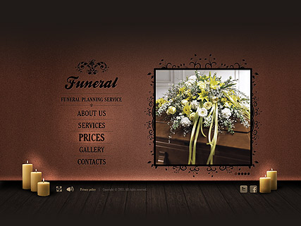 Funeral Service, Easy flash template