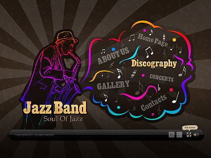 Jazz Band, Easy flash template