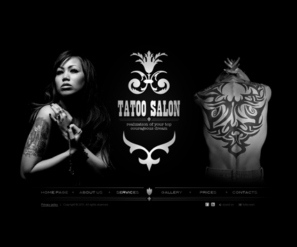 Tattoo, Dynamic Photo Gallery Admin flash template