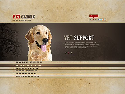 Pet Clinic, Easy flash template