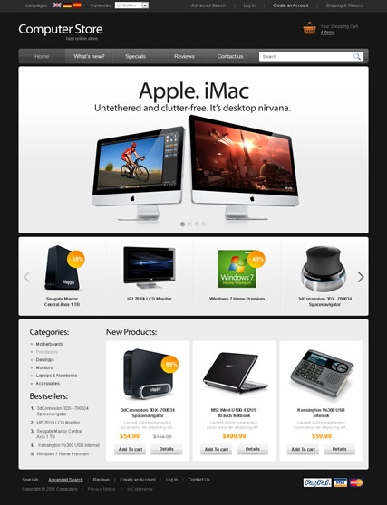 Name: Computer store v2.3 - Type: osCommerce template - Item number:300111271
