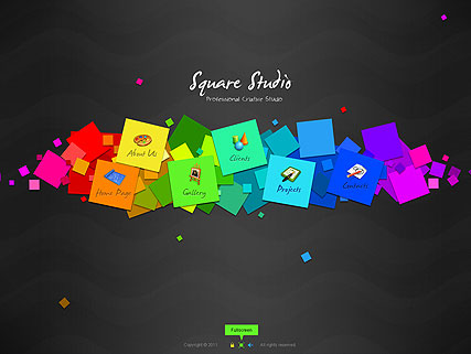 Name: Square Studio - Type: Easy flash templates - Item number:300111278
