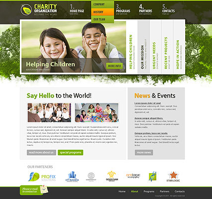Charity Organization, HTML template