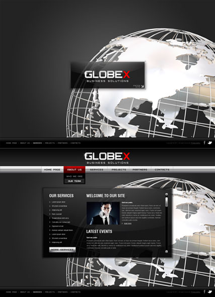 Global Business, HTML5 template