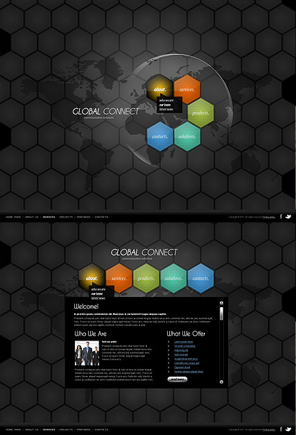 Communication, HTML5 template