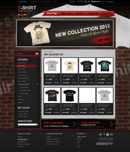 T-shirts v2.3 | osCommerce template | ID:300111285