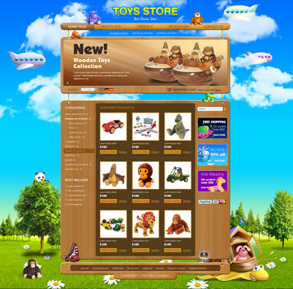 Toys store v2.3 | osCommerce template | ID:300111287