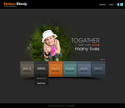 Charity HTML5 Template ID 300111291