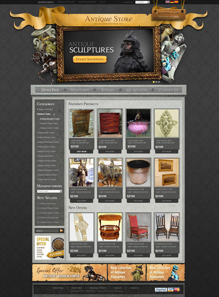 Antique Store v2.3 | osCommerce template | ID:300111293