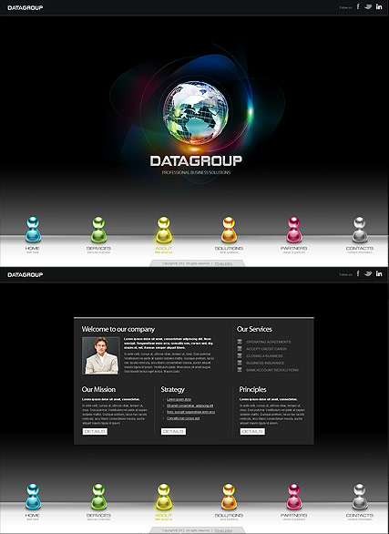 Data Group, HTML5 template