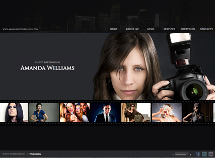 Photographer, HTML5 template