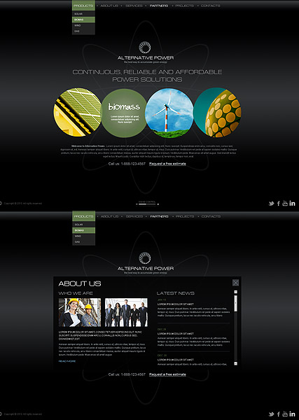 Alternative Power, HTML5 template