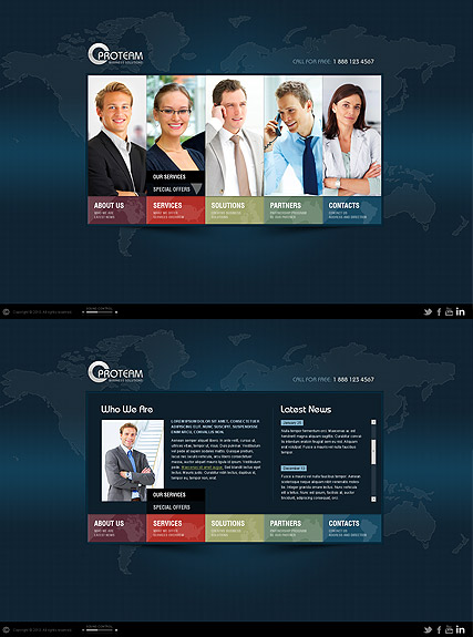 World Business, HTML5 template