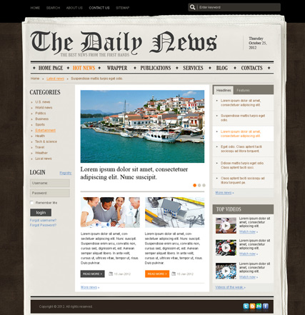 Joomla Newspaper Template 28 Images Top 10 Awesome Free Premium