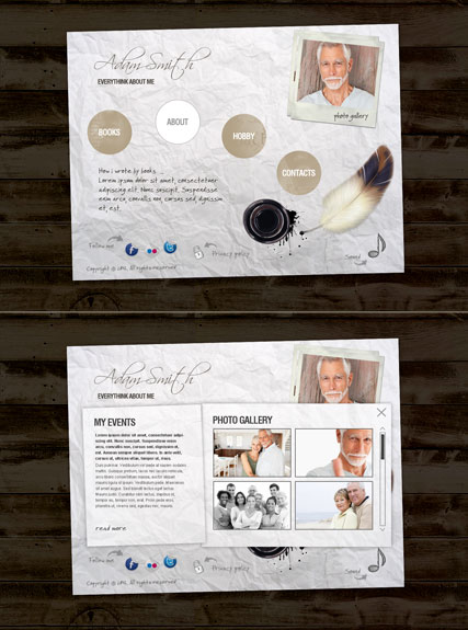Writer Personal, HTML5 template