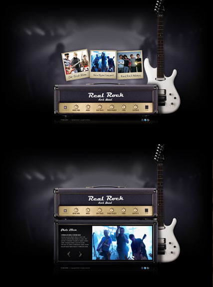 Real Rock Band, Dynamic Video Gallery Admin flash template
