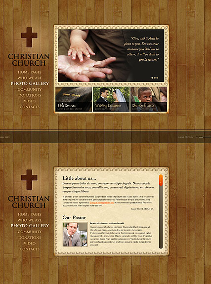 Christian Church, HTML5 template