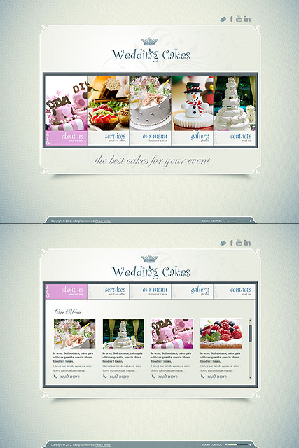 Wedding Cakes, HTML5 template