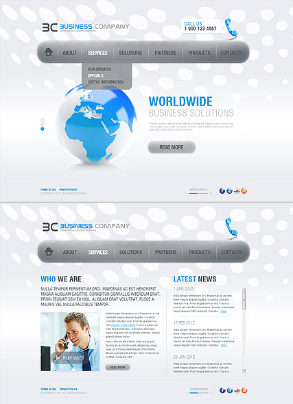 Business Co., HTML5 template