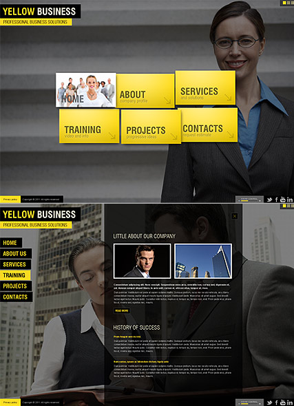 Yellow Business, HTML5 template