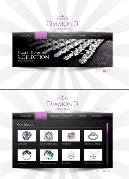 Jewelry, HTML5 template