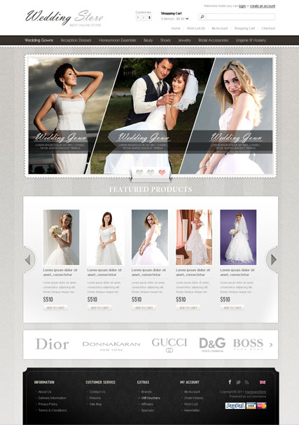 Wedding Store, OpenCart template