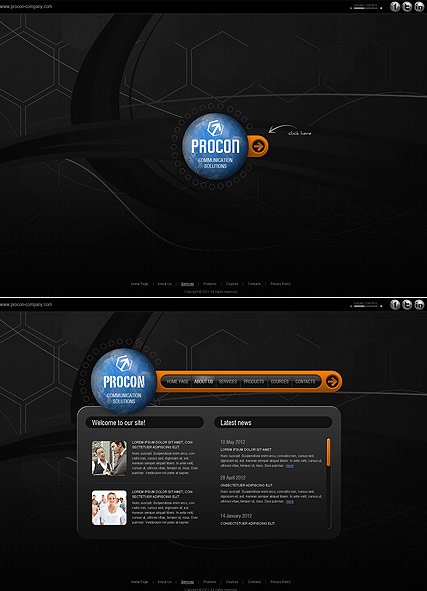 Communication Co., HTML5 template